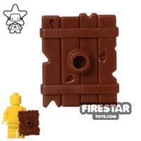 Product shot BrickWarriors - Goblin Shield - Brown
