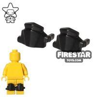 Product shot BrickWarriors - Greaves - Pair - Black
