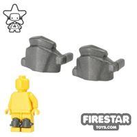 Product shot BrickWarriors - Greaves - Pair - Steel