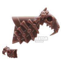 Product shot BrickWarriors - Sabertooth Armour - Brown