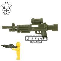 Product shot CombatBrick - M249 SAW Light Machine Gun - Dark Green