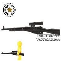 Product shot CombatBrick - WWII Russian Mosin-Nagant Sniper Rifle - Black