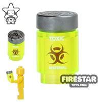 Product shot Custom Design - Bio Chem Canister - Trans Neon Green