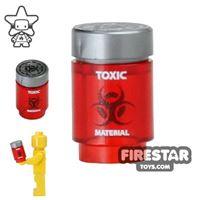 Product shot Custom Design - Bio Chem Canister - Trans Red
