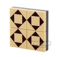 Product shot Floor Tile Pack - Triangle Pattern Set