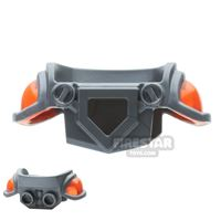 Product shot LEGO - Armor Breastplate with Large Trans-Neon Orange Shoulder Pads