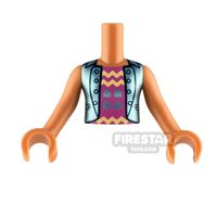 Product shot LEGO Friends Minifigure Torso Top with Zigzags