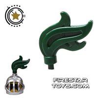 Product shot LEGO - Helmet Plume - Dark Green