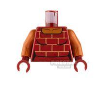 Product shot LEGO Mini Figure Torso - Female Shirt with Bricks