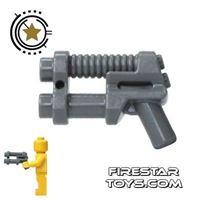 Product shot Lego - Two Barrel Pistol - Dark Blueish Gray