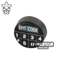 Product shot Printed Round Tile 1x1 - Key Code Pad
