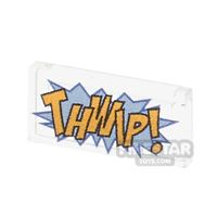 Product shot Printed Tile 1x2 - Comic Book 'THWIP' Tile