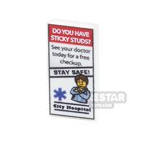 Product shot Printed Tile 1x2 - Medical Leaflet 1
