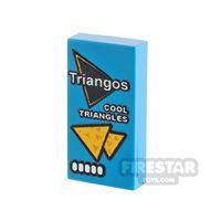 Product shot Printed Tile 1x2 Triangos Cool Original