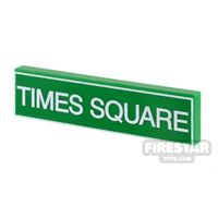 Product shot Printed Tile 1x4 - Times Square Sign