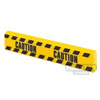 Product shot Printed Tile 1x4 Yellow Tape Caution