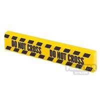 Product shot Printed Tile 1x4 Yellow Tape Do Not Cross