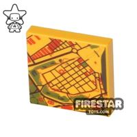 Product shot Printed Tile 2x2 - Airport Map