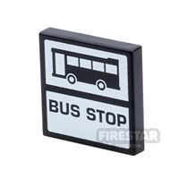 Product shot Printed Tile 2x2 - Bus Stop
