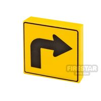 Product shot Printed Tile 2x2 Directional Arrow Right