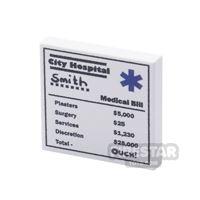 Product shot Printed Tile 2x2 - Medical Bill