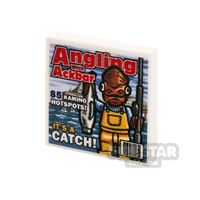 Product shot Printed Tile 2x2 - SW Angling with Ackbar Magazine