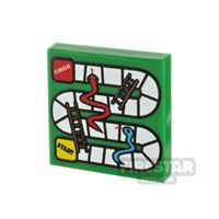 Product shot Printed Tile 2x2 - Snakes and Ladders Board