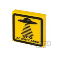 Product shot Printed Tile 2x2 UFO Sign