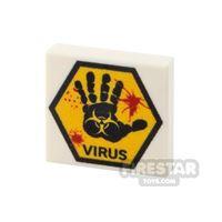 Product shot Printed Tile 2x2 Virus Sign