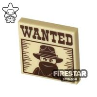 Product shot Printed Tile 2x2 - Wanted Poster