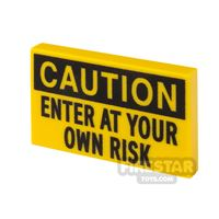 Product shot Printed Tile 2x3 Caution Sign