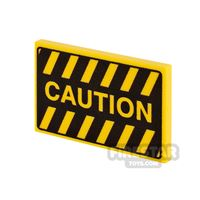 Product shot Printed Tile 2x3 Caution