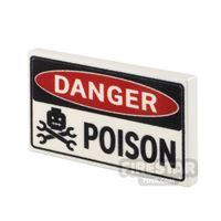 Product shot Printed Tile 2x3 Danger Poison Sign