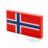 Product shot Printed Tile 2x3 Norweigan Flag