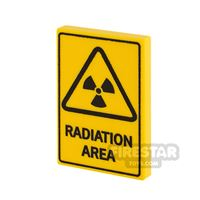 Product shot Printed Tile 2x3 Radiation Area