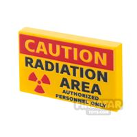 Product shot Printed Tile 2x3 Radiation Sign