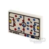 Product shot Printed Tile 2x3 Soccer Tactics Board