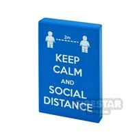 Product shot Printed Tile 2x3 Social Distance
