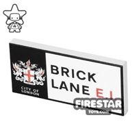 Product shot Printed Tile 2x4 - Brick Lane Street Sign