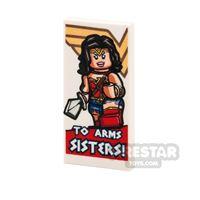 Product shot Printed Tile 2x4 - Motivational Wonder Woman Poster