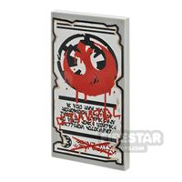 Product shot Printed Tile 2x4 - SW Imperial Graffiti Poster