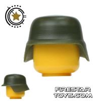 Product shot SI-DAN - German M35 Helmet - Tank Green