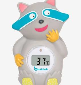 Bath & Room Temperature Raccoon-Shaped Thermometer by BADABULLE dark grey