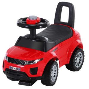 HOMCOM 3-in-1 Ride-On Car Walker Stroller Push-Along w/ Horn Wheel & Under Seat Storage Red|Aosom Ireland