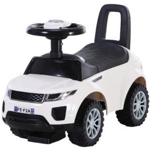 HOMCOM 3-in-1 Ride-On Car Walker Stroller Push-Along w/ Horn Wheel & Under Seat Storage White |Aosom Ireland