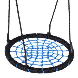 HOMCOM 60cm Spider Web Tree Swing Round Kids Hanging Rope Seat Metal Outdoor Toys|Aosom Ireland