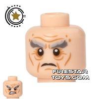 Product shot LEGO Mini Figure Heads - Wrinkles - Gray Eyebrows