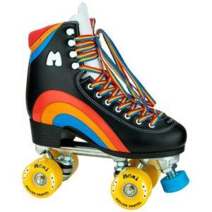 Moxi Rainbow Skates - Black size 3 - 9