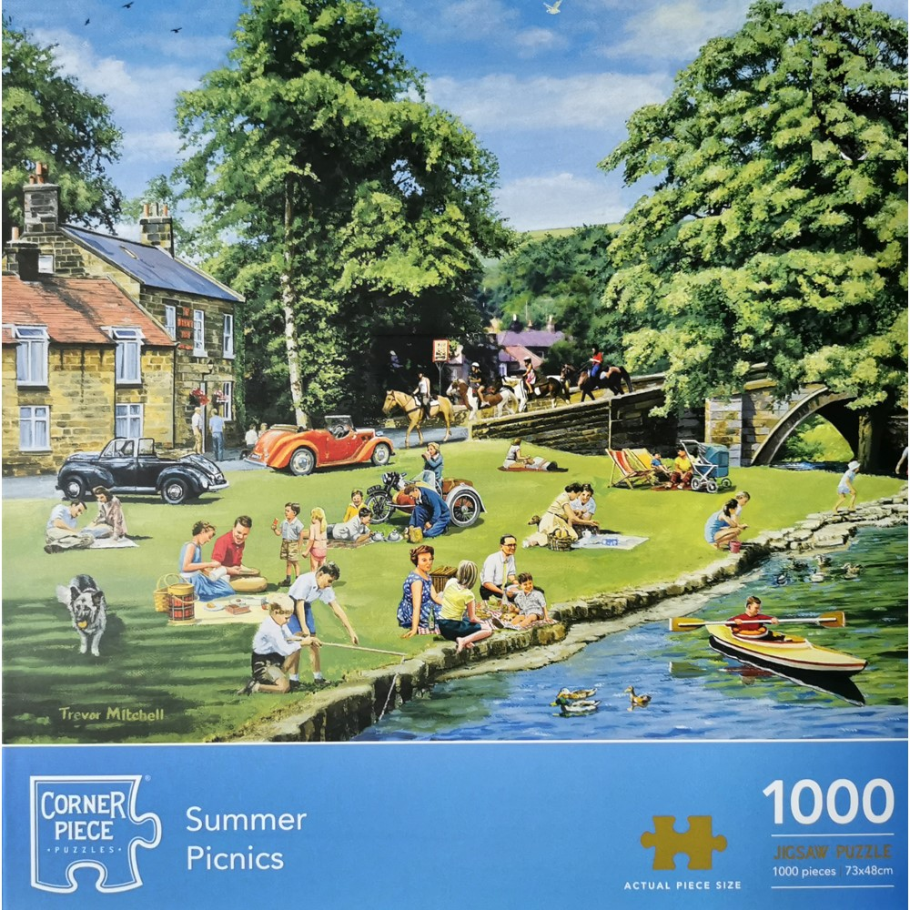Product shot Summer Picnic 1000 Piece Jigsaw Puzzle