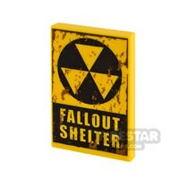 Product shot Printed Tile 2x3 Fallout Shelter Dirt Stains